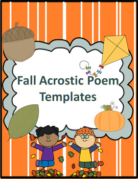 Fall Acrostic Poem Templates
