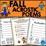 Fall Acrostic Poems - Fall Writing Activity