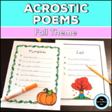 Fall Acrostic Poems Creative Writing Activity