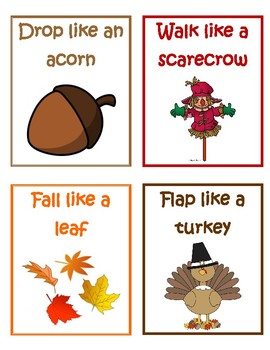 Fall Action Cards