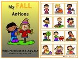 Fall Actions Interactive Vocabulary Book