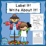Fall Writing with Labels!  ELL Activities for Newcomers! E