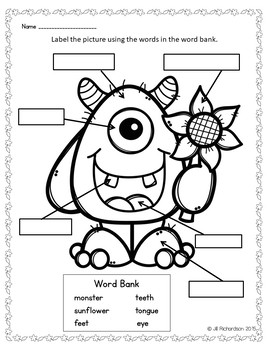Fall Writing with Labels!  ELL Activities for Newcomers! ESL Writing