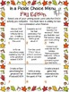 Fall Writing Activities Choice Boards, Vocabulary Game, and Rubric