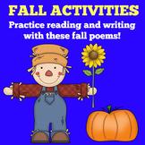 Fall Activity | Preschool Kindergarten | Poems  Poetry Boo