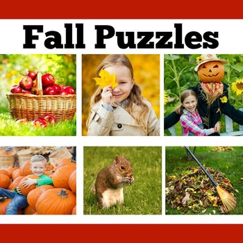 FREE Fall Puzzle Activities