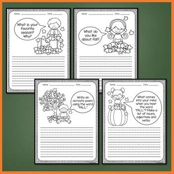 Fall Writing Activities (Fall Writing Prompts Kindergarten, 1st, 2nd Grade)