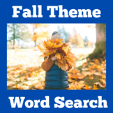 Fall Word Search   Fall Worksheet   Fall Word Find