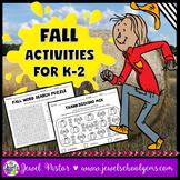 Fall Activities (Fall Worksheets Kindergarten, 1st Grade, 2nd Grade)