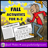 Fall Activities (Kindergarten, 1st Grade and 2nd Grade Wor
