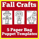 Fall Crafts | Preschool Kindergarten 1st Grade | November