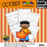 Fall Activities With Cut and Paste October Words