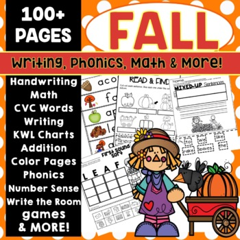 Fall Activities Math Writing