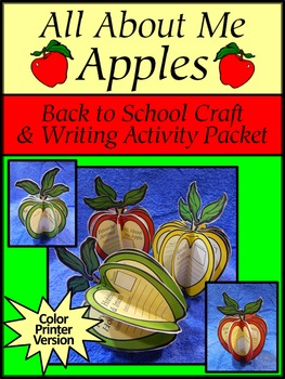 Fall Activities: All About Me Apples Back to School Craft & Writing Activity