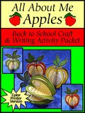 Fall Activities: All About Me Apples Back to School Craft Activity - Color