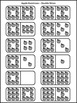 Fall Activities: Apple Dominoes Back to School Math Game Activity -B/W Version