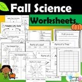 Fall Science Activities Bundle - Pumpkins, Apples, Leaves