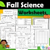 Fall Science Worksheets