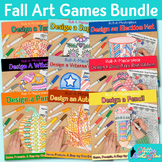 Fall Activities Bundle | Direct Drawing Games | Art Sub Plans & Writing Prompts
