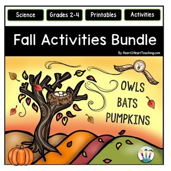 Fall Activities Bundle: Spiders, Owls, Bats, and Pumpkins for Science Centers