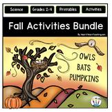 Fall Activities Bundle with Owls, Bats, and Pumpkin Units