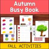 Fall Activities Busy Book - Autumn themed math, language a