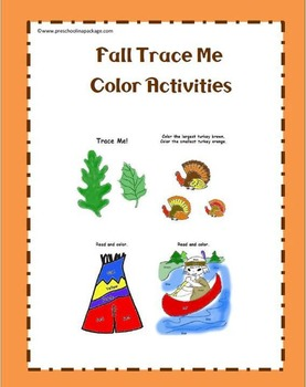 Fall Activities Color and Tracing