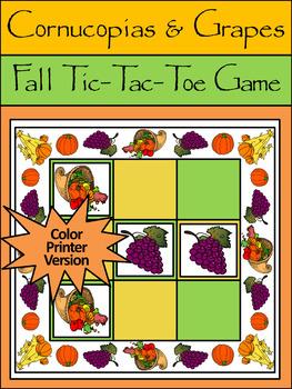 Fall Activities: Cornucopias & Grapes Fall-Thanksgivin