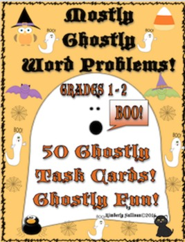 Halloween Math Activities Word Problems Grade 1  Task Card