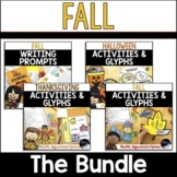 Fall Activities, Glyphs and Fall Writing Prompts - Fall Holidays Bundle