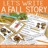 Fall Writing Center: Let's Write a Fall Story - Digital Version Included