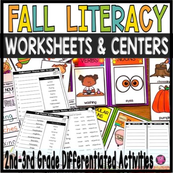 Fall Literacy Centers for Kindergarten and First Grade