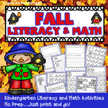 Fall Activities : Literacy and Math Printables - Just Print & Go!