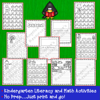 Fall Activities: Number Tracing Worksheets - Literacy and Math