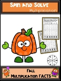 Fall Activities Multiplication Spin and Solve Math Centers