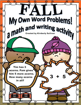 Fall Activities My Own Word Problems! Grades 1 - 3  Lesson Plan