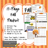 Fall Activities Packet - 17 Pages