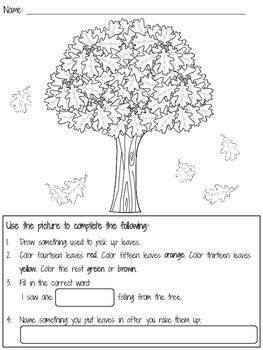 First Grade Autumn Activities