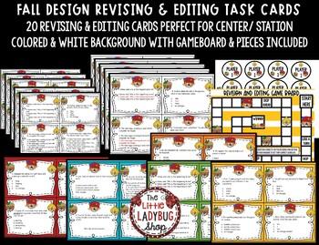 Revising and Editing - Fall Writing Center Activity 4th Grade, 3rd Grade