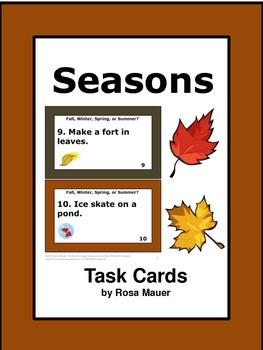 Sorting Seasons Task Cards