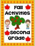 Fall Activities Second Grade (Literacy & Math)