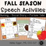 Fall Activities: Speech and Language Therapy
