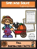Fall Activities Subtraction Spin and Solve Math Centers