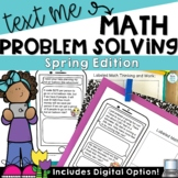 Text Message Multiple Step Word Problem Worksheets