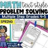 Spring Math Word Problems | Multi Step Word Problem Activities Digital