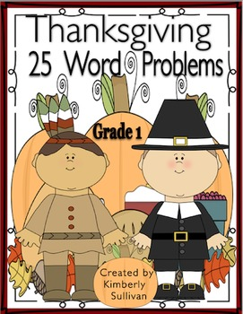 Thanksgiving Math Activities 25 Task Cards Word Problems G