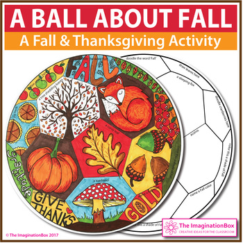 Fall Coloring Pages - Thanksgiving Art and Writing Activity