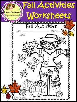 Fall Activities - Worksheets (School Designhcf)