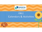 Fall Activities and Monthly Calendars