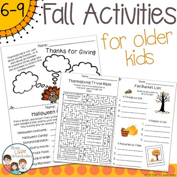 Fall Activities for Older Kids - No Prep